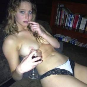 Jennifer Lawrence topless vine drinking