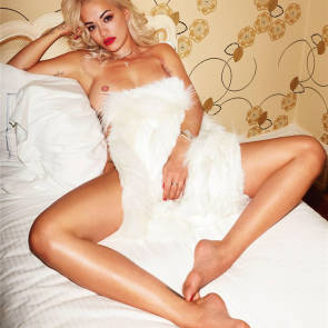 Rita Ora On The Bed