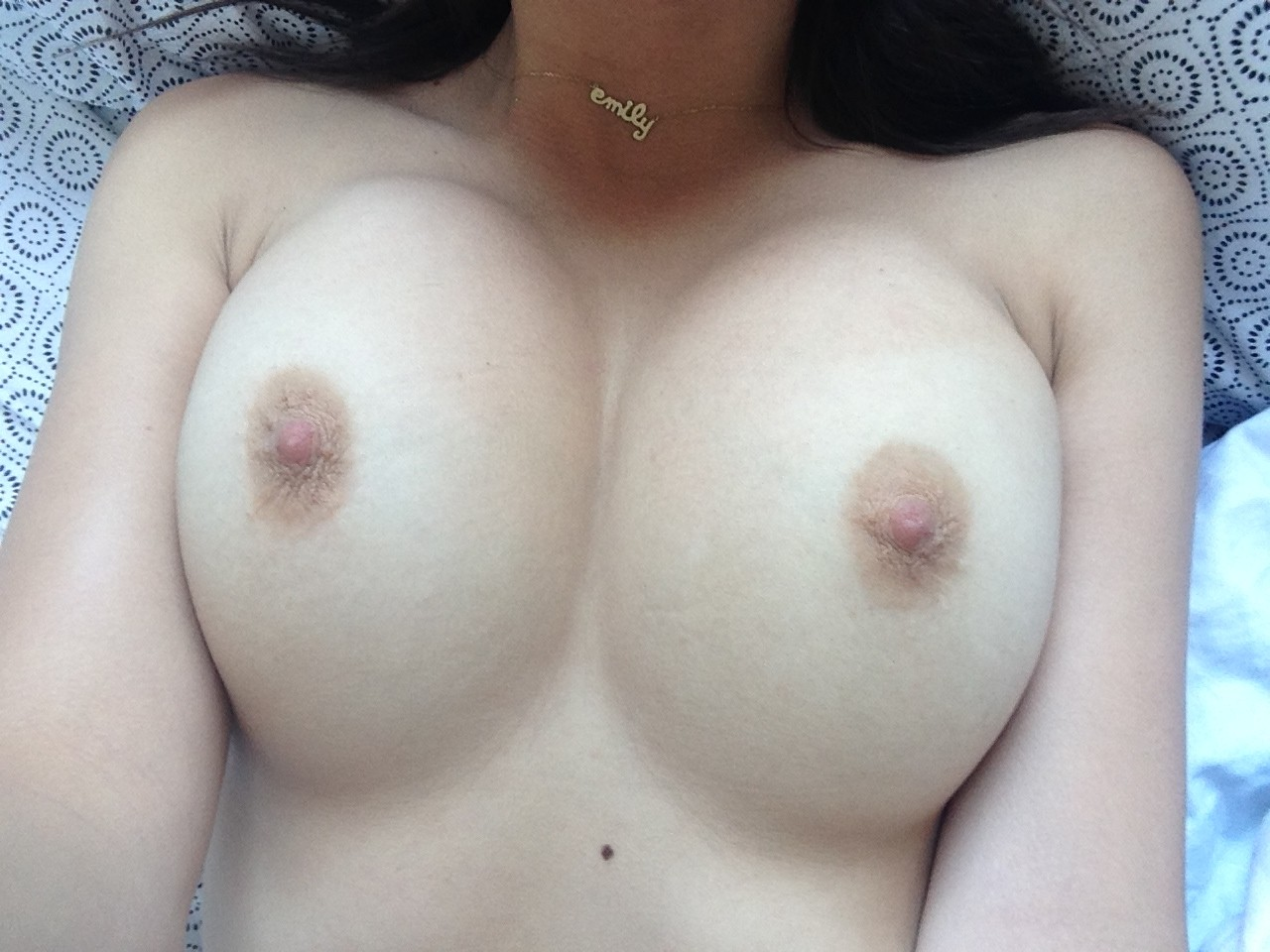Close up nipples leaking