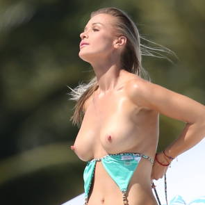 Joanna Krupa Topless Sunbathing In Miami