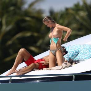 Joanna Krupa boobs sunbathing