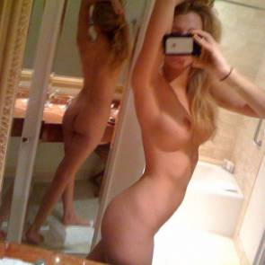 Blake Lively selfie nude wit two mirrors