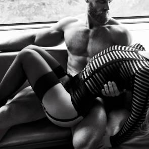 Britney Spears lying in guy's lap