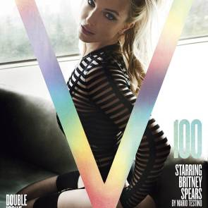 Britney Spears on cover of magazine