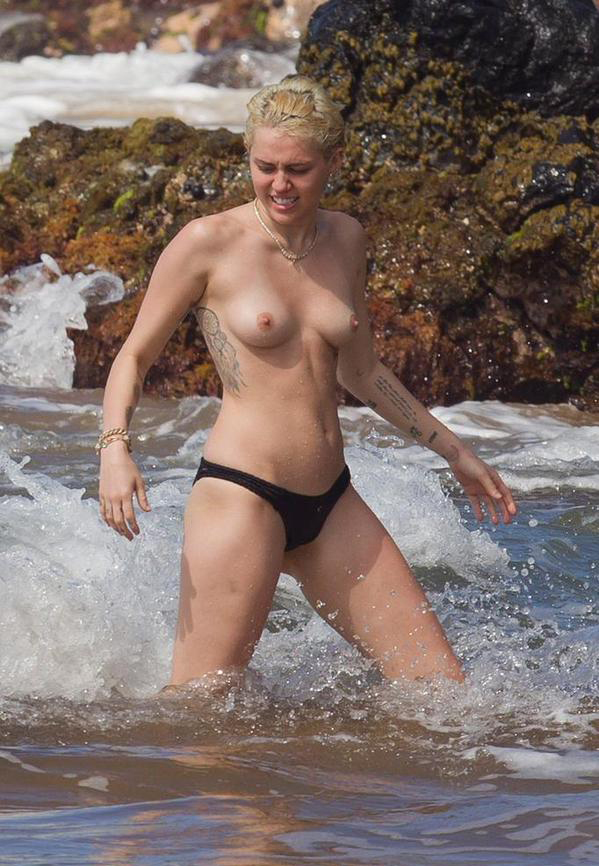 Tits Miley naked cyrus