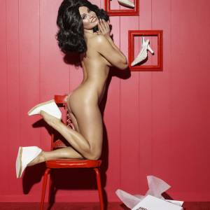 Pamela Anderson Nude (Covered) in Paper Magazine