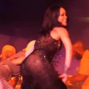 Rihanna Thong Butt Dance