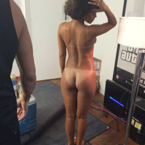 Rihanna photoshoot naked from behind