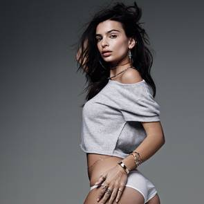 emily ratajkowski from behind showing ass in white panties