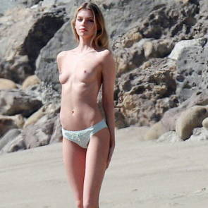 stella maxwell topless on the beach in malibu