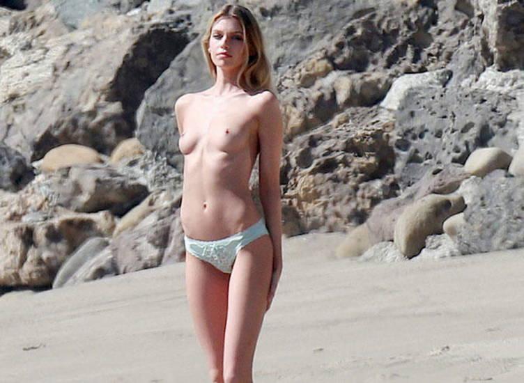 stella maxwell topless on the beach in malibu