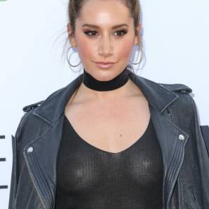 Ashley Tisdale in a see through top