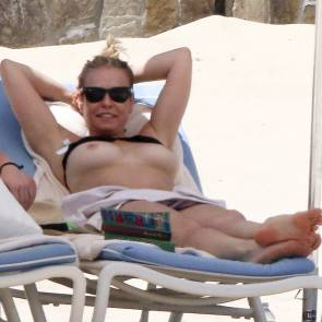 chelsea handler topless on the beach