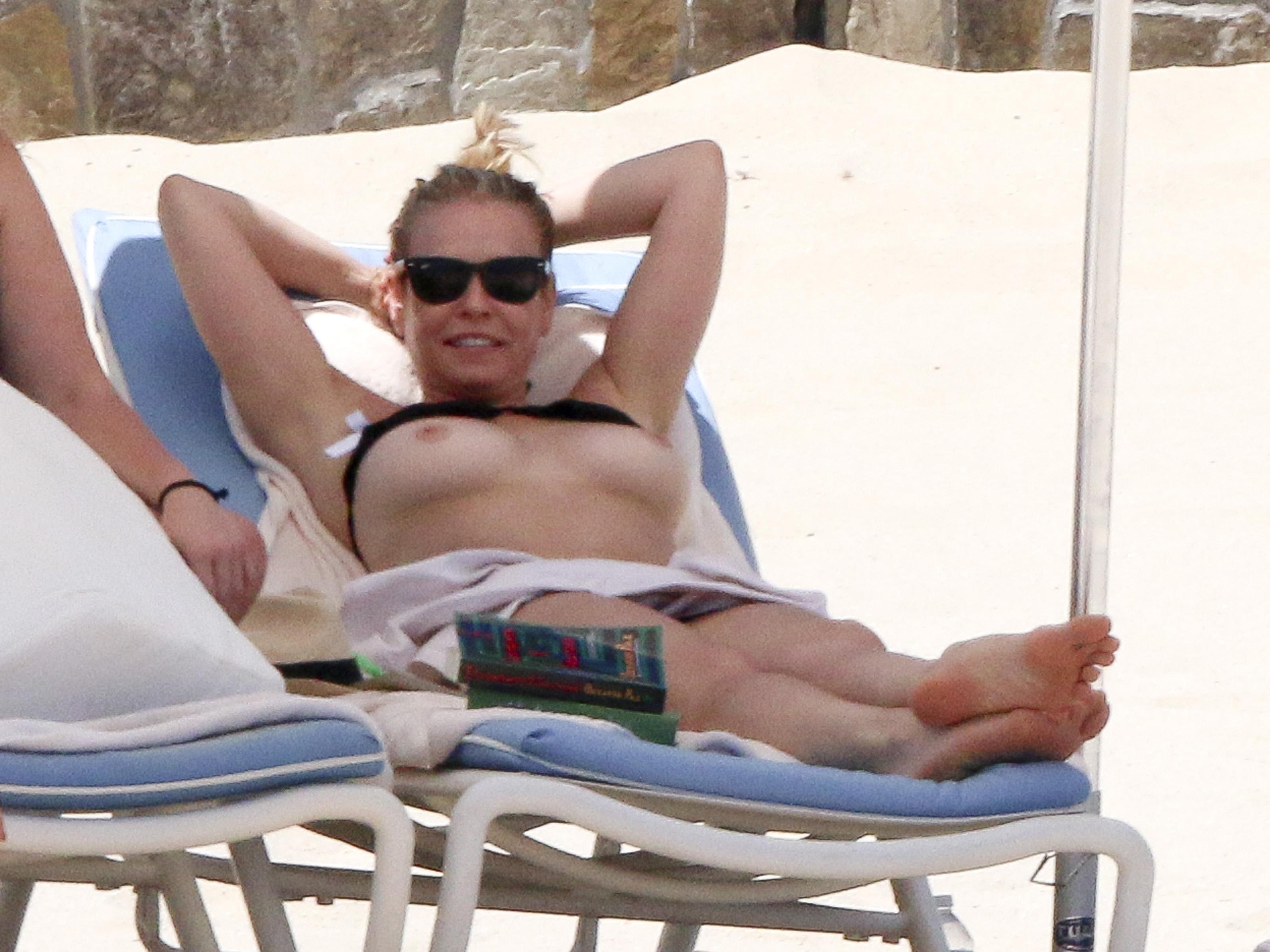 celebs Topless beach