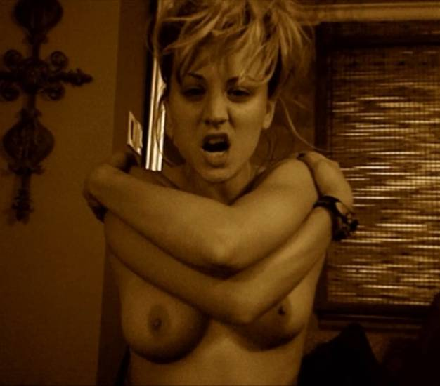 Kaley Cuoco nude standing with crossed hands