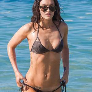 Megan Fox Sexy In Bikini At Beach