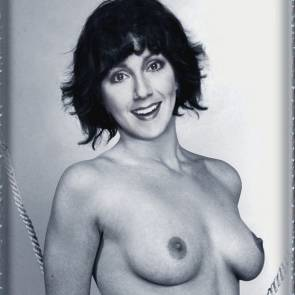 joyce dewitt in topless black and white pic