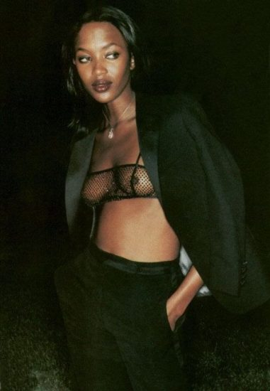 naomi campbell in a see through shirt