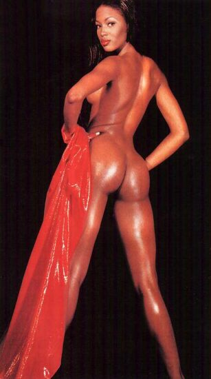 naomi campbell naked ass from behind