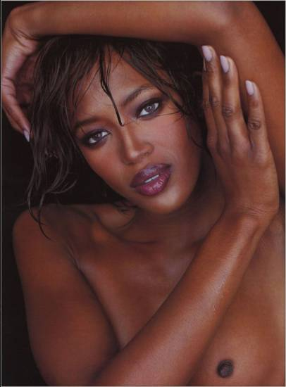 naomi campbell photo shoot with naked tits