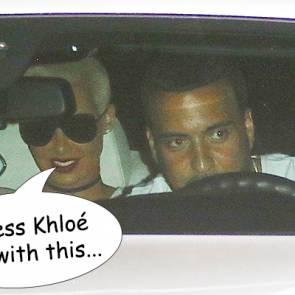 Amber Rose With Khloe Kardashian's ex French Montana Close Up