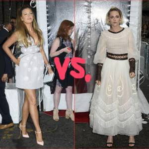 Blake Lively Prefect In Pom Poms, But Kristen Stewart Looks Like Plucked Bird