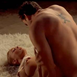Heather Graham Sex while tied up with scarf BDSM