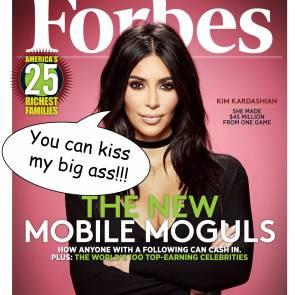 Kim Kardashian Forbes Cover Page