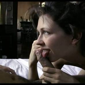 Margo Stilley Nude Giving A Blowjob Poster