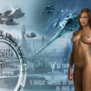 Rachel Luttrell nude poster outtake for stargate atlantis