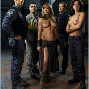 Stargate Atlantis Crew With Rachel Luttrell in topless