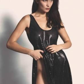 Bella Hadid In leather dress In Vogue Magazine