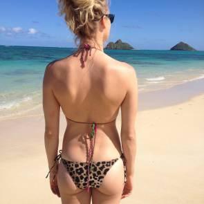 Yvonne Strahovski by the sea in bikini