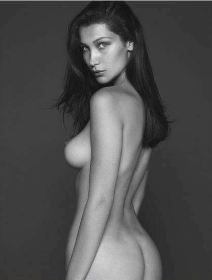Bella Hadid Naked, showing boobs and ass