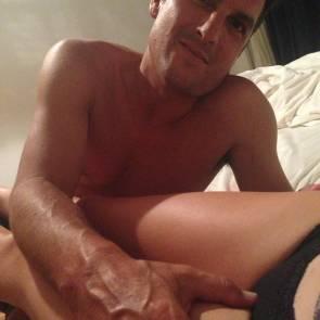Yvonne Strahovski's boyfriend in bed