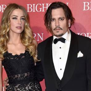 Amber Heard And Johnny Depp On Premiere