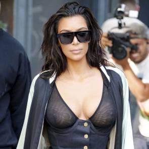 Kim Kardashian In See Through Top