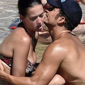 Katy Perry hugging Orlando Bloom