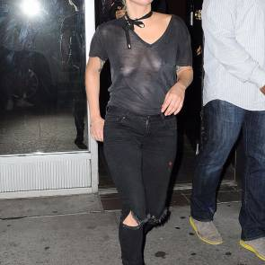 Lady Gaga Braless On Streets Of New York