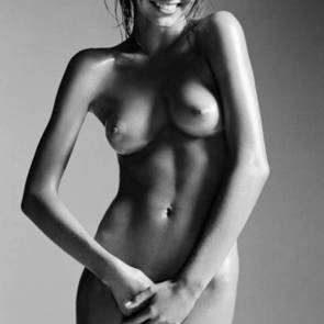 Miranda Kerr Topless In Black And White