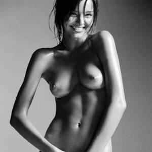 Miranda Kerr Nude For Magazine, Black And White Pics
