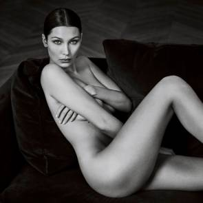 Bella Hadid naked on the bed