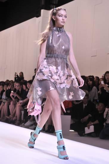 Gigi Hadid In Floral dress