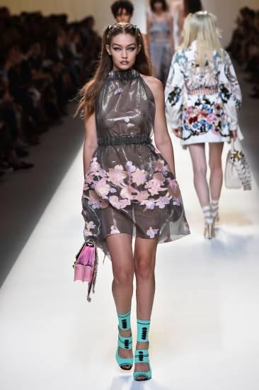 Gigi Hadid in see through dress