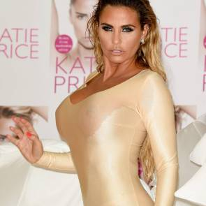 Katie Price boobs in see through outfit
