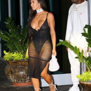 Kim Kardashian And Kanye Leaving Kanye's concert