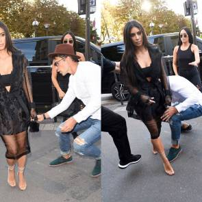 Kim Kardashian Ass Kissed By Vitali