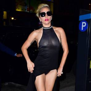 Lady Gaga Nipples And Upkirt on the street