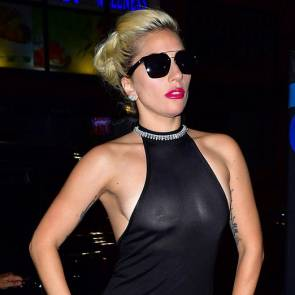 Lady Gaga Nipples Close up