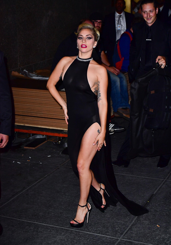 Lady Gaga Nipples In See Through Dress - [3 NEW PICS]